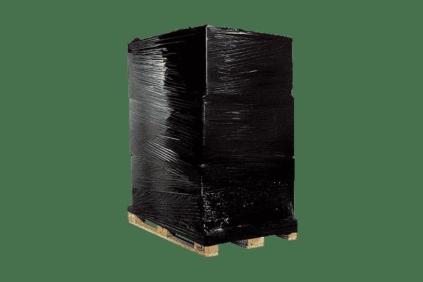 Discrete verpakking (kluis gewikkeld in zwart plastic)