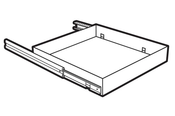 Lips Brandkasten uittrekbaar legbord DuoGuard & ProGuard 110-300