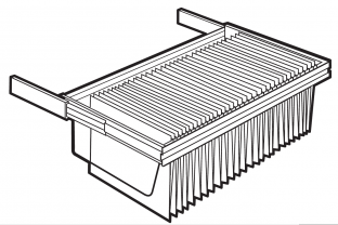 Lips Brandkasten uittrekbaar hangmappenframe size110-300  | KluisShop